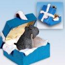 BGBD114 Kerry Blue Terrier Blue Gift Box Ornament
