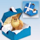 BGBD03A Pomeranian, Red Blue Gift Box Ornament