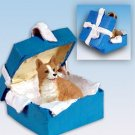 BGBD51A Welsh Corgi, Pembroke Blue Gift Box Ornament