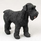 DF103A Schnauzer, Black, Uncropped Standard Figurine