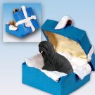 BGBD10D Lhasa Apso, Black Blue Gift Box Ornament