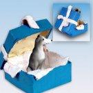 BGBD54B Greyhound, Gray Blue Gift Box Ornament