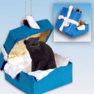 BGBA10 Panther Blue Gift Box Ornament