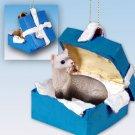 BGBA56 Ferret Blue Gift Box Ornament