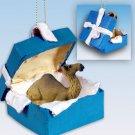 BGBA67 Camel, Dromedary Blue Gift Box Ornament