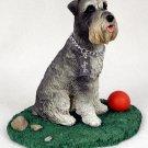 DFL103B Schnauzer Gray Uncropped My Dog Figurine