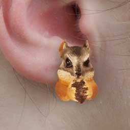 AHE73 Chipmunk Earrings Post