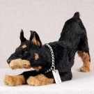 DFFL25A Doberman Black My Dog Fur Figurine