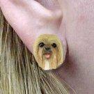 DHE10C Lhasa Apso Blonde Earrings Post