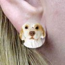 DHE116 Clumber Spaniel Earring Post