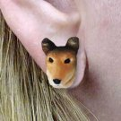 DHE118 Collie, Smooth Earrings Post