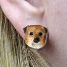 DHE122 Tibetan Spaniel Earrings Post