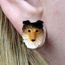DHE20A Sheltie Sable Earrings Post
