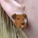 DHE38 Airedale Earrings Post