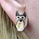 DHE58A Giant Schnauzer Earrings Post