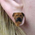DHE88 Bull Mastiff Earrings Post