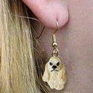 DHEH15C Cocker Blonde Earrings Hanging