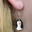 DHEH22B Springer Spaniel Black Earrings Hanging