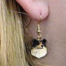 DHEH23B Collie Tricolor Earrings Hanging