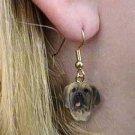 DHEH49 Bull Mastiff Earrings Hanging