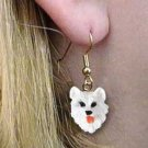 DHEH82 American Eskimo Earrings Hanging