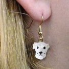 DHEH92A Whippet White Earrings Hanging