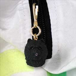 DHZ21A Chow Black Zipper Charm