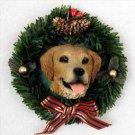 DPX09 Golden Retriever Wreath Ornament