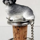 DTB129A Lhasa Apso, Gray, Sport cut Bottle Stopper