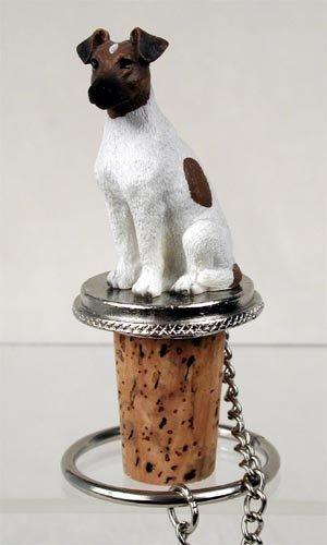 DTB50A Fox Terrier, Brown & White Bottle Stopper