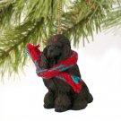 DTX01E Poodle, Chocolate Christmas Ornament
