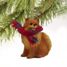 DTX03A Pomeranian, Red Christmas Ornament