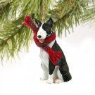DTX07B Bull Terrier, Brindle Christmas Ornament