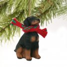 DTX101A Doberman, Black, Uncropped Christmas Ornament