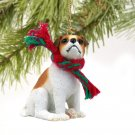 DTX105A Jack Russell Terrier, Brown & White, Smooth Coat Christmas Ornament