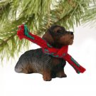 DTX124 Wire Haired Dachshund Christmas Ornament