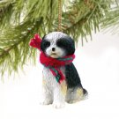 DTX128D Shih Tzu, Black & White, Sport cut Christmas Ornament