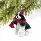 DTX15E Cocker Spaniel, Black & White Christmas Ornament