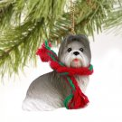 DTX26A Shih Tzu, Gray Christmas Ornament