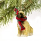 DTX28B Afghan, Tan & White Christmas Ornament