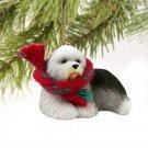 DTX35 Old English Sheepdog Christmas Ornament