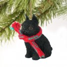 DTX46B Brussels Griffon, Black Christmas Ornament
