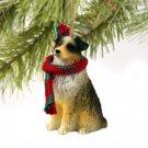 DTX99D Australian Shepherd Brown, Docked Christmas Ornament