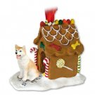 GBHD17C Husky, Red & White, Blue Eyes Ginger Bread House