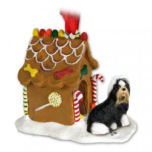 GBHD26D Shih Tzu, Black & White Ginger Bread House