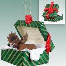 GGBA32 Moose, Bull Green Gift Box Ornament