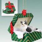 GGBC22 Manx Black & White Green Gift Box Ornament