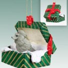 GGBD01B Poodle, Gray Green Gift Box Ornament