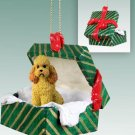 GGBD104C Poodle, Apricot, Sport cut Green Gift Box Ornament