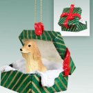 GGBD121C English Cocker Spaniel, Blonde Green Gift Box Ornament
